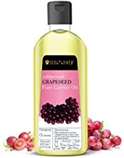 Soulflower Grapeseed Carrier Oil for Hair Growth, Moisturizing Hair, Softens Skin - 100% Pure, Organic, Natural Undiluted Coldpressed Carrier Oil - 6.77 Fl Oz