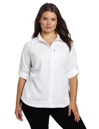 Columbia Silver Ridge Chemise à Manches Longues pour Femme Taille XXXL Blanc (Blanc)