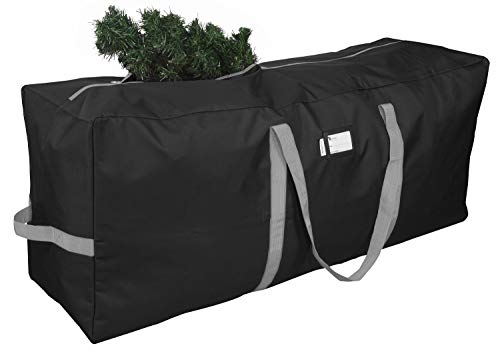 """Primode Christmas Tree Storage Bag, Fits Up to 9 Ft. Tall Disassembled Trees, 25"""" H X 20"""" W X 65"""" L, Durable 600D Oxford Material, Heavy Duty Xmas Storage Container (Black)"""