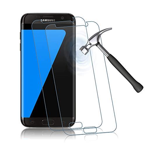 Panzerglas Schutzfolie für Samsung Galaxy S7, 9H Härte, Anti-Kratzen, Anti-Bläschen Displayschutzfolie, 2 Stück Panzerglasfolie Kompatibel mit Samsung Galaxy S7 (Transparent)