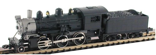 MDP N Scale Undecorated 2-6-0 Mogul Model Train Steam Locomotive with Standard DCC & Sound - Model Power 87600
