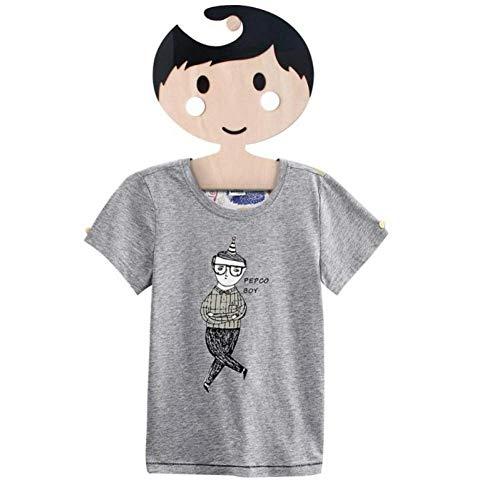 Cartoon Mädchen Jungen aus Holz für Kinder Kleiderbügel nordischen Stil Holz Kleiderständer Baby-Hanger-Kind-Raum-Ausgangsdekoration Haken