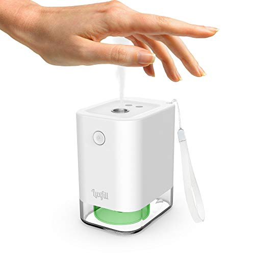 Luxfill Hand Sanitizer Dispenser Touchless, Automatic Alcohol Dispenser, Automatic Hand Sanitizer Dispenser, Travel Size Mist Alcohol Sprayer Suitable for Home, Office, Work, Car