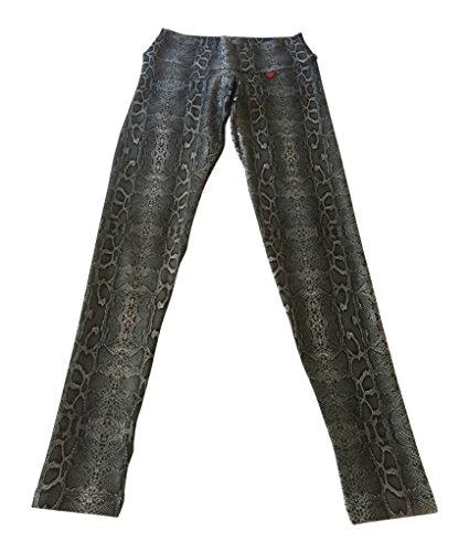 FITMAMA Leggings Estampados con Piel de Serpiente - SPL001, S, Gris (Gray Snake)