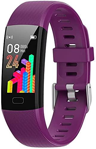 Smart Watch frecuencia cardíaca, rastreador de actividad física, monitor del sueño, batería de larga duración, contador de calorías, compatible con iOS y Android, impermeable IP69, pulsera podómetro