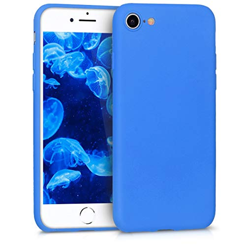 kwmobile Cover Compatibile con Apple iPhone 7/8 / SE (2020) - Custodia in Silicone TPU - Backcover Protezione Posteriore- Blu Fluo