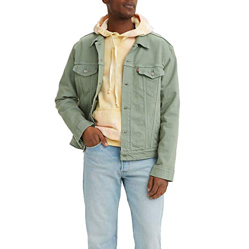 Levi\'s Herren Original Trucker Jacket Jeansjacke, Hecke grün, L