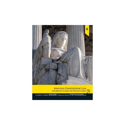 Essays Examples Amazoncom American Constitutional Law Introductory Essays And Selected Cases Th  Edition