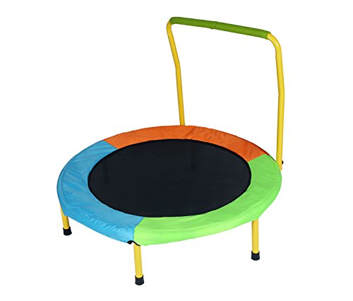 Jack's household 37 inch Round Trampoline Folding Children Trampoline Exercise Rebounder with Handle