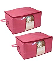 Prettykrafts Underbed Storage Bag, Storage Organizer, Blanket Cover with Side Handles