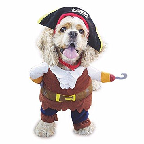 Costume da pirata dei Caraibi con cappello per cane e gatto, divertente travestimento per feste in maschera