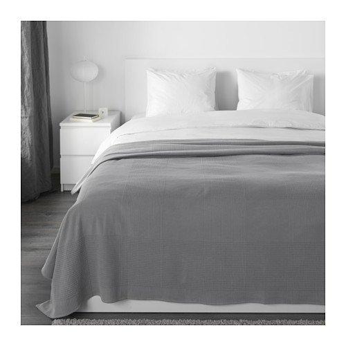 IKEA Indira Tagesdecke Grau 103.890.76 Größe: 91x98