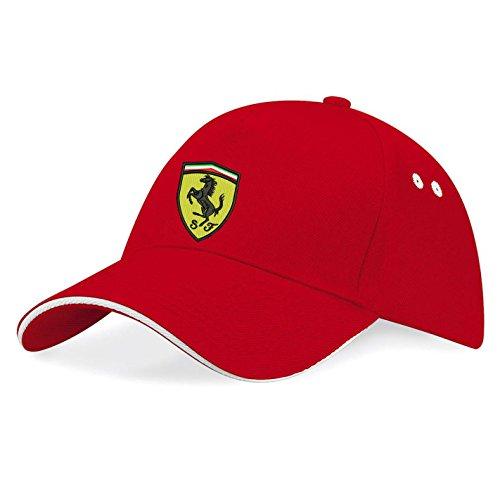 Ferrari Gorras de béisbol Bordado súper una Primera Calidad - k 080 - Rot