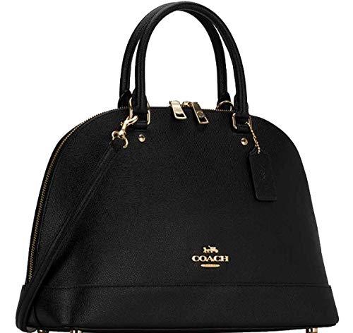 Coach Black Crossgrain Leather Elegant Dome Satchel/Shoulder Bag