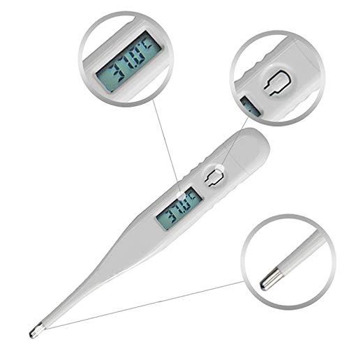 Preisvergleich Produktbild ToDIDAF Baby-Themometer Digitales LCD-Thermometer Temperaturmessungmit Piepser und Speicherfunktion Professionelles Erkennen Wasserdicht Präzision Einfaches Lesen Passend für Kind Erwachsener Körper
