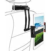 """Support Tablette Voiture, SAWAKE Support Appuie-Tête de Voiture Universel pour Tablette/Téléphone, Taille réglable 5,5""""-12,90"""", Rotation 360°, pour iPad Air/Pro/Mini, Tablette, Kindle, E-Reader, etc"""