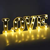 Coitak Love Marquee Letter Lights Sign LED Decor Lights Night Light Wedding Birthday Party Home Bar Decoration