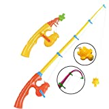 CozyBomB Magnetic Fishing Toy Pole 2 Pack for Replacement - No Fishes are Included - Bathtime Carnival Toddler Education Teaching - Fishing Poles Rod (Large)