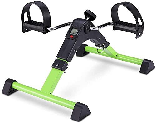 RRB RRB Ejercitador Mini Bicicleta de Ejercicio Portátil Interior Fitness Sentado RRB Ejercitador para Entrenamiento de Brazo / Pierna Vendedor de Ejercicios Portátil con Pantalla LCD Azul-Verde