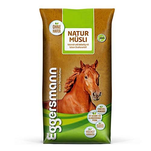 Eggersmann Natur Müsli - Muesli de Cheval Naturel sans additifs artificiels pour Les Chevaux sensibles aux Allergies - 20 kg