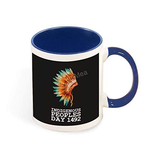 N\A Taza Divertida del día de los pueblos indígenas nativos Americanos Taza Divertida/Taza Personalizada 11oz