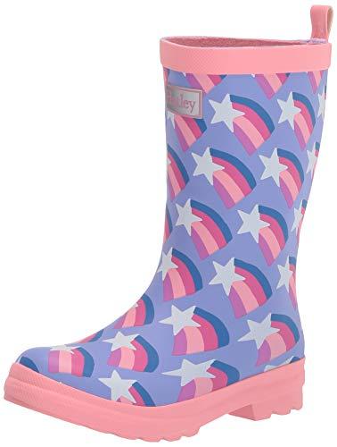 Hatley Mädchen Printed Wellington Rain Boots Gummistiefel, Matte Sternschnuppen, 30 EU