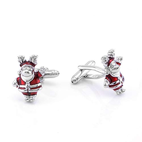 Yoursfs Christmas Cufflinks Stainless Steel Santa Claus Novelty Father Xmas for Men Shirts