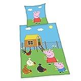 Herding Peppa Pig Juego de Cama, Algodón, Multicolor, 80 x 80 cm, 135 x 200 cm