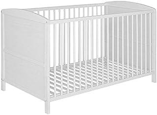 Best For Kids Gitterbett 2 in 1 Patrick 70x140 cm mit Matratze 10 cm Juniorbett Kinderbett Babybett in zwei Farben Weiß