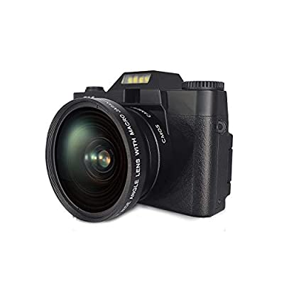 Digital Camera Video Camera 4K 48MP Full HD Camera with WiFi, Vlogging Camera with 16X Digital Zoom and 3.0 Inch 180 Degree Rotation Flip Screen, Vlog Camera for YouTube with 32G Micro Card from KIDSCAM