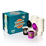 300 Disposable Paper Filters for Keurig Reusable Pods Filters and Other Single Serve Refillable Capsules (Fits All Brands) - Pods Coffee Filters Accessories