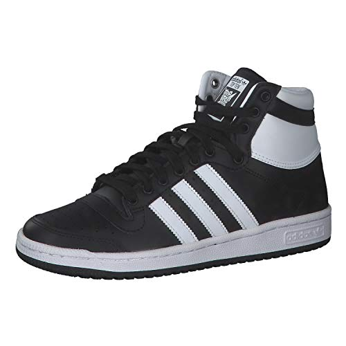 adidas Top Ten, Scarpe da Ginnastica Uomo, Core Black/Ftwr White/Chalk White, 53 1/3 EU