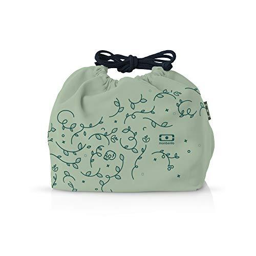monbento - MB Pochette Lunch Tasche - Polyester Bento Tasche - Geeignet für MB Original MB Square & MB Tresor Bento-Boxen (M, English Garden)