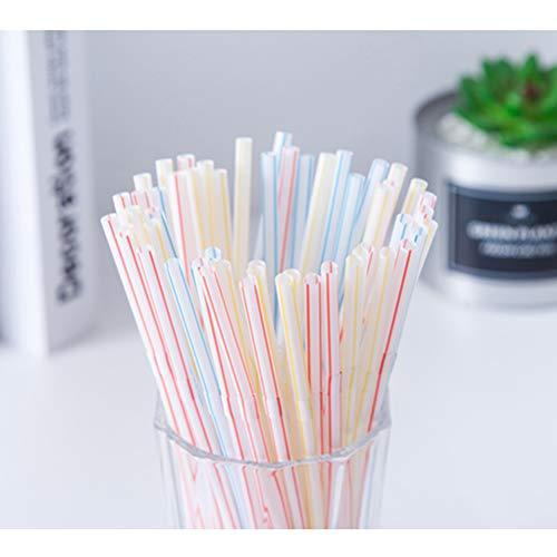 400 Piezas Pajitas Desechables Pajitas de Plastico Flexibles Pajitas de Colores para Beber Fiestas Niños