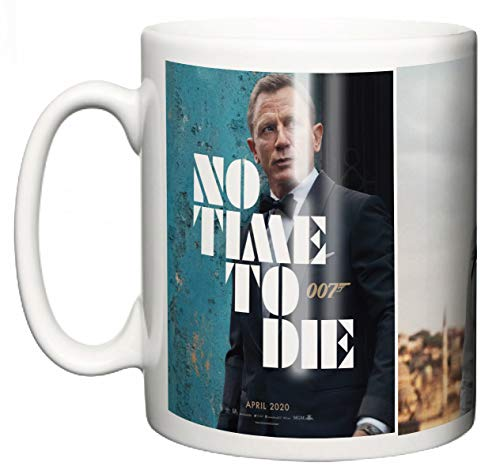 Daniel Craig James Bond No Time to Die Keramik-Tasse, Film-Memorabilien, 007 Original Filmposter