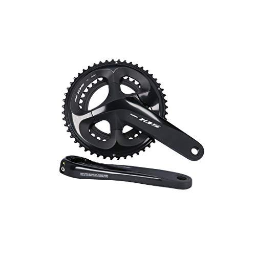SHIMANO BIELAS 105 R7000 11V Ciclismo, Adultos Unisex, Negro(Negro), 172,5mm 50/34