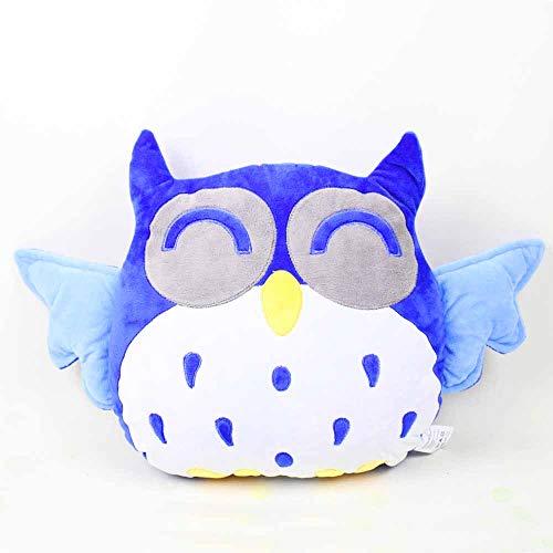 Rainbow Fox Hibou drôle Coussin Sofa Sweet Child oreiller Coussin bleu -Plüschspielzeug Avec un design spécial pour décorer votre voiture / salon / bureau / pépinière