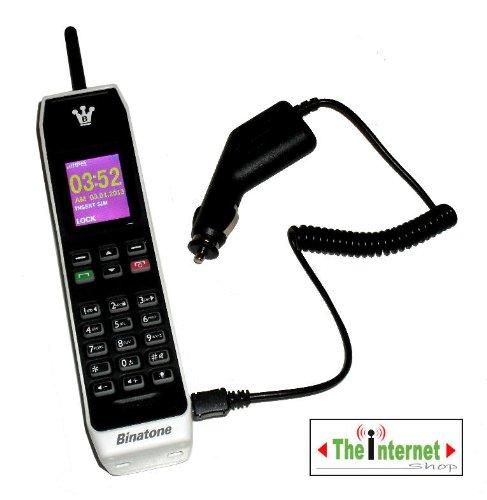 TIS Autoladegerät für Binatone Brick-Handy Retro/Vintage. Mit großen Tasten, GSM-kompatibel.