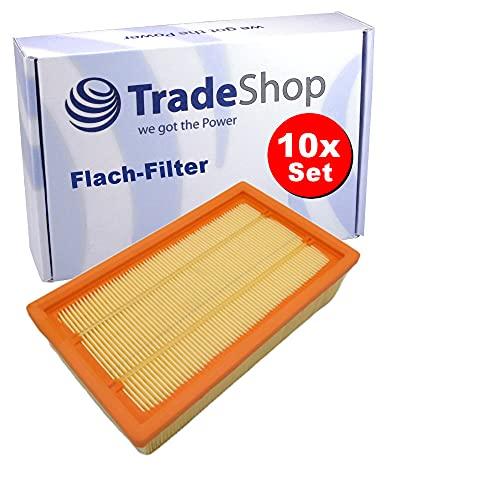 10x Trade-Shop Flachfalten-Filter...