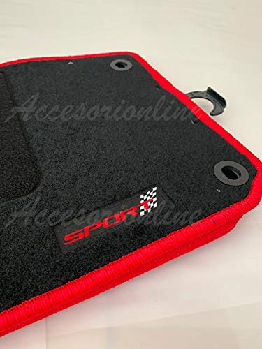 Accesorionline Alfombrillas Golf V y Vi 2004-2012 alfombras esterillas a Medida mkv mk5 Bordes Rojos
