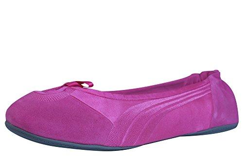 Puma Travel Ballerina Suede Frauen - Schuhe-Fuchsia-37.5