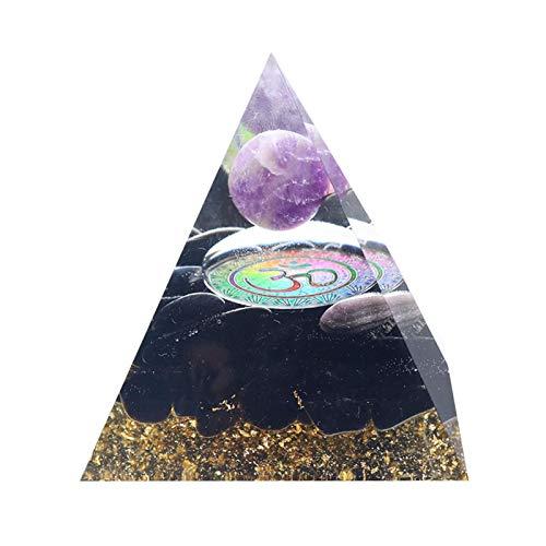 Generador De Energía Orgone Pyramid, Kit De Curación Natural De Cuarzo Decoración De Escritorio, Pirámide De Cristal De Tourmalina Orgonita Para Protección Radiológica/Meditación/Yoga