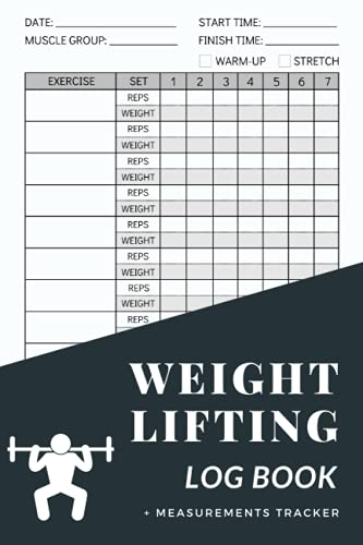 """Weight Lifting Log Book: Workout Journal for Men and Women, 6""""x9"""", 120 Pages, Fitness Logbook and Exercise Tracker for Personal Training, Gym Planner"""