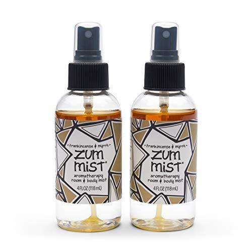 Zum Mist Room and Body Spray - Frankincense and Myrrh - 4 fl oz (2 Pack)