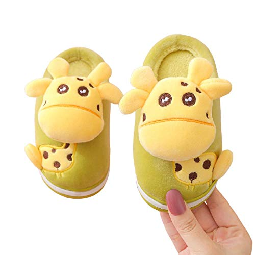 Y-PLAND Cartoon children's cotton slippers, indoor home non-slip plus velvet slippers, autumn and winter children's warm cotton slippers-2_EU28-29