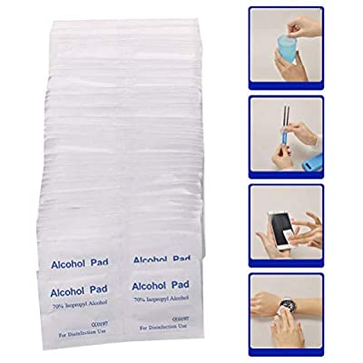 BETWEENME 100Pcs Disposable Alcohol Pad Alcohol Swab Wipes Antiseptic Disinfect Swabs First Aid Home Use by between buringfor