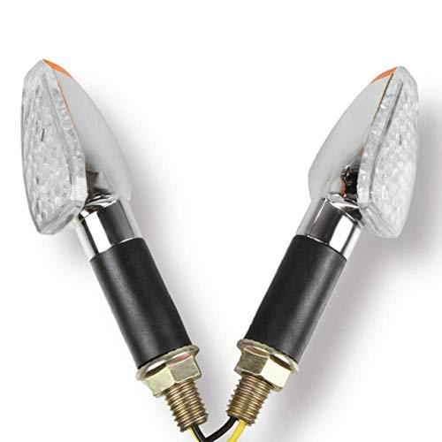 QOHFLD Für Kawasaki KLX110 KX65 KX85 KX100 NI NJA 400 650 , Motorrad 12 LED Blinker Blinker Blinker vorne hinten Rücklichter