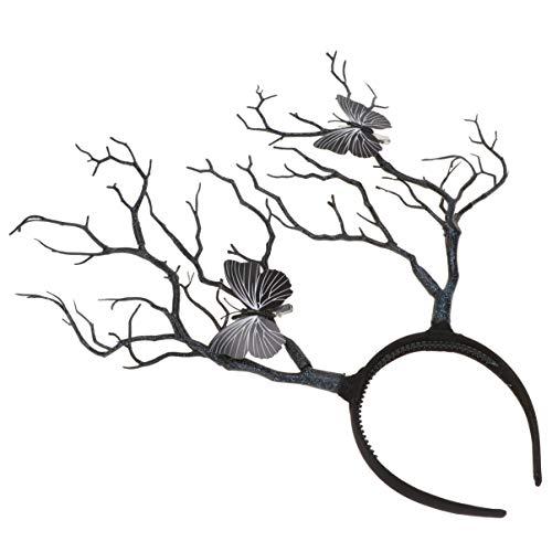 FRCOLOR Ramas Mariposa Diadema Bosque Bruja Diadema Accesorios Halloween Cosplay Disfraz Sombreros