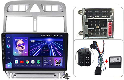 Android 9.1 9' Pantalla Táctil Completa Reproductor Multimedia para Peugeot 307 2002-2013 Soporte GPS Navigation/FM RDS Stereo Radio/BT Hands-Free Calls/Control del Volante