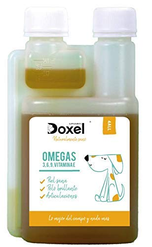 Doxel 4all-250ml Aceite para perros| Suplemento natural | Sistema Inmunitario reforzado| Articulaciones...